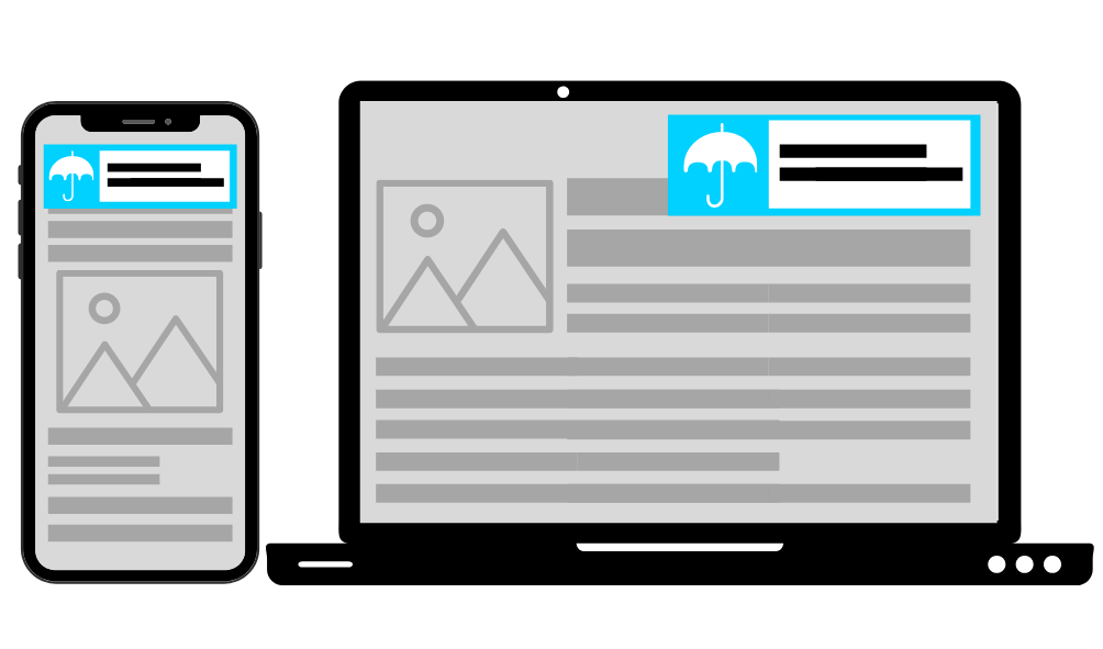 In-Page Push ads on mobile and desktop