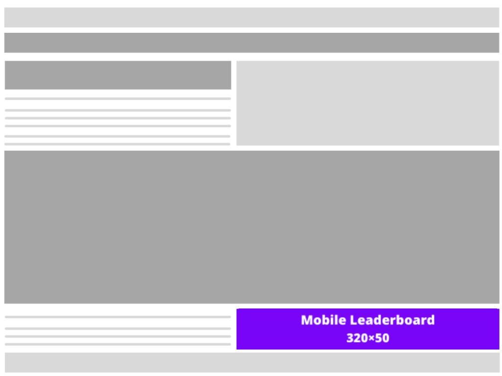 Mobile leaderboard (320×50)