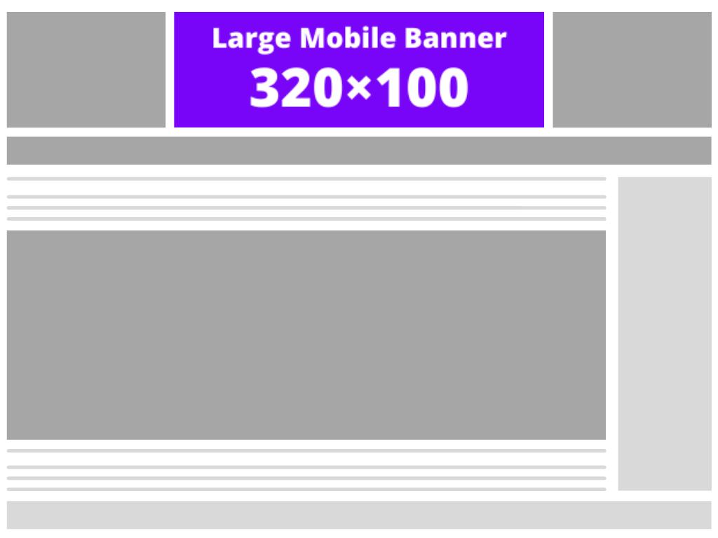 Large mobile banner (320×100)