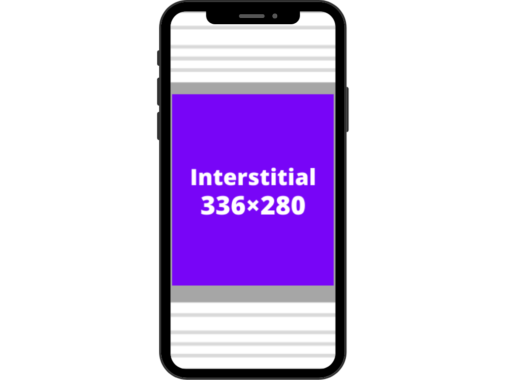 Interstitial/large rectangle ads (336×280)