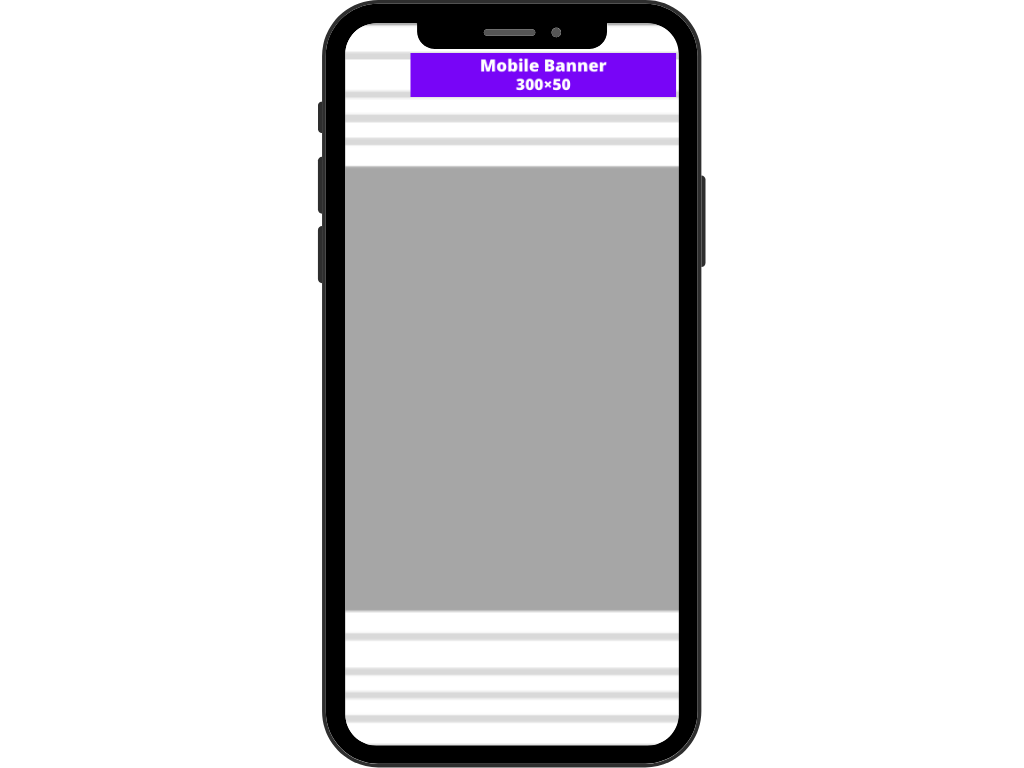 Mobile banner (300×50)