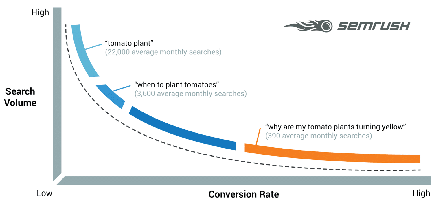 Differnce between long tail and short tail keywords